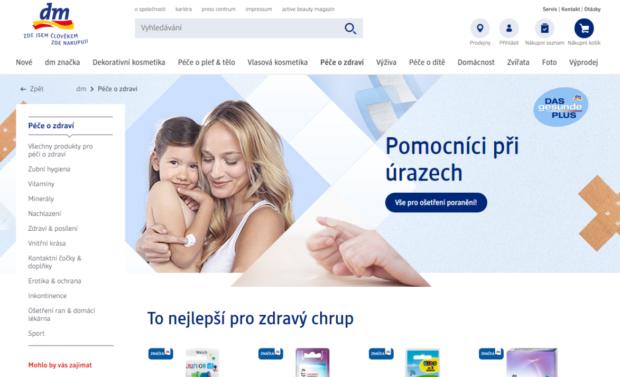 Společnost dm drogerie spustila e-shop