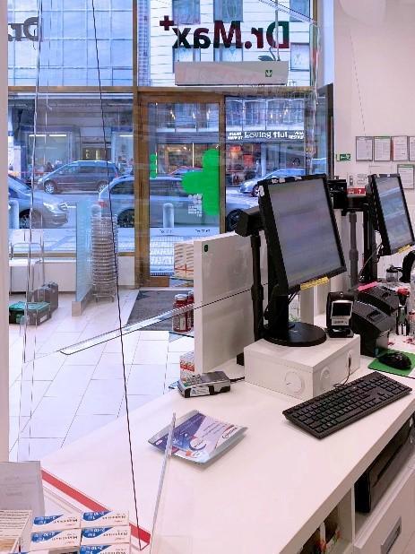 Lékárny Dr. Max kompletně vybaveny ochrannými plexiskly