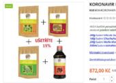 Odhaleno další zneužívání virové epidemie některými prodejci doplňků stravy na internetu