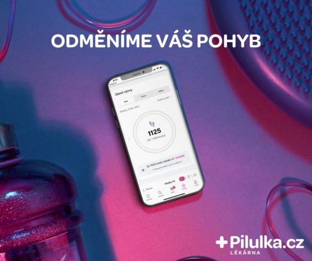 Pilulka rozšířila svou aplikaci a odměňuje za pravidelný pohyb
