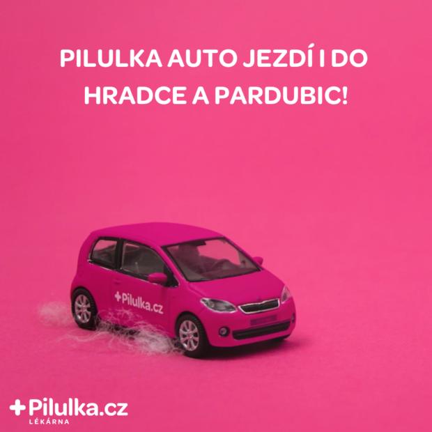 Pilulka Auto míří nově do Pardubic a Hradce Králové